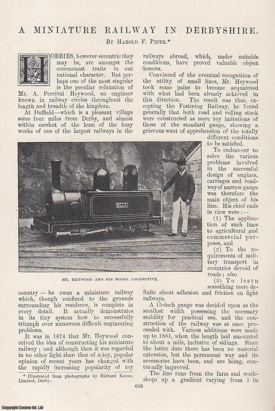 A Miniature Railway in Derbyshire. Percival Heywood., Piper, Harold F.
