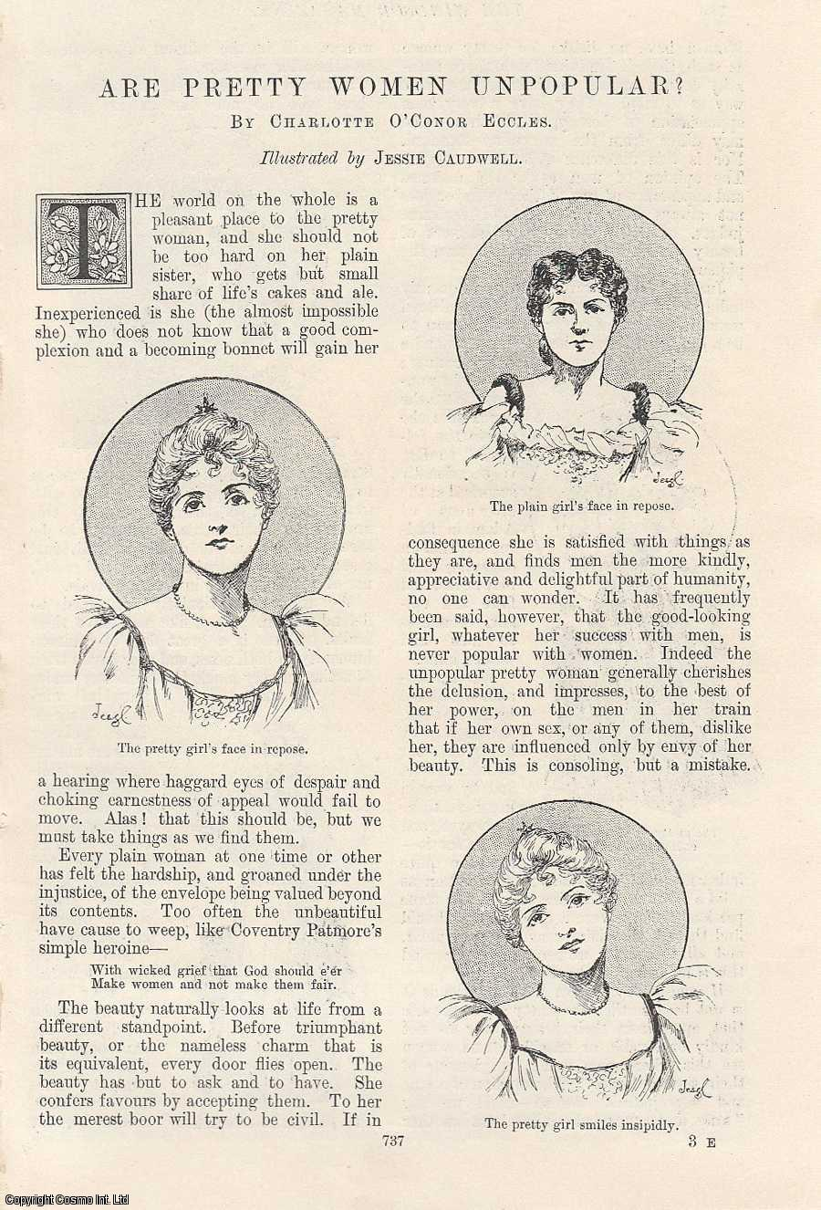 Are Pretty Women Unpopular? Illustrated by Jessie Caudwell., Eccles, Charlotte O'Conor