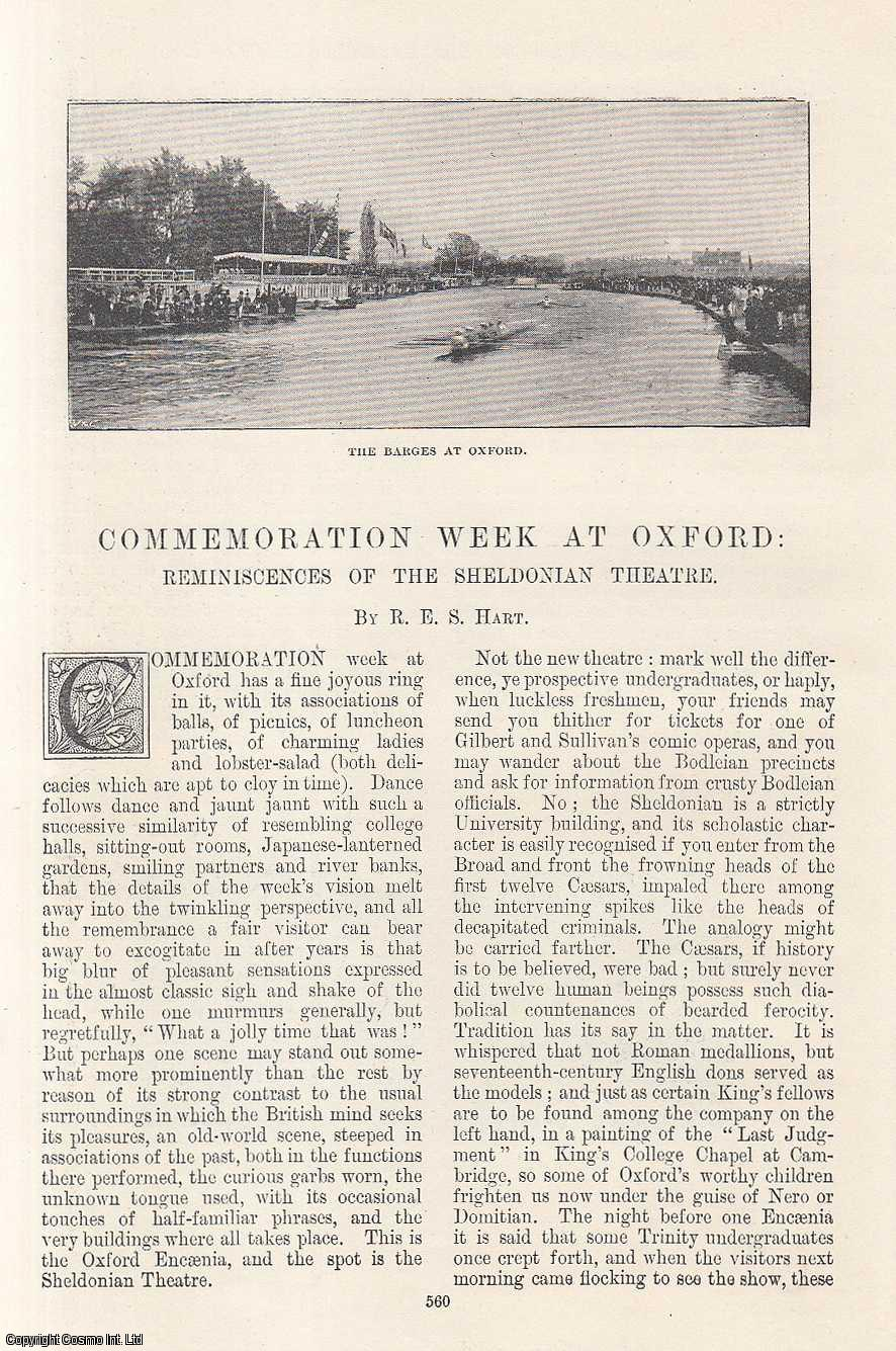 Commemoration Week at Oxford: Reminiscences of The Sheldonian Theatre., Hart, R. E. S.