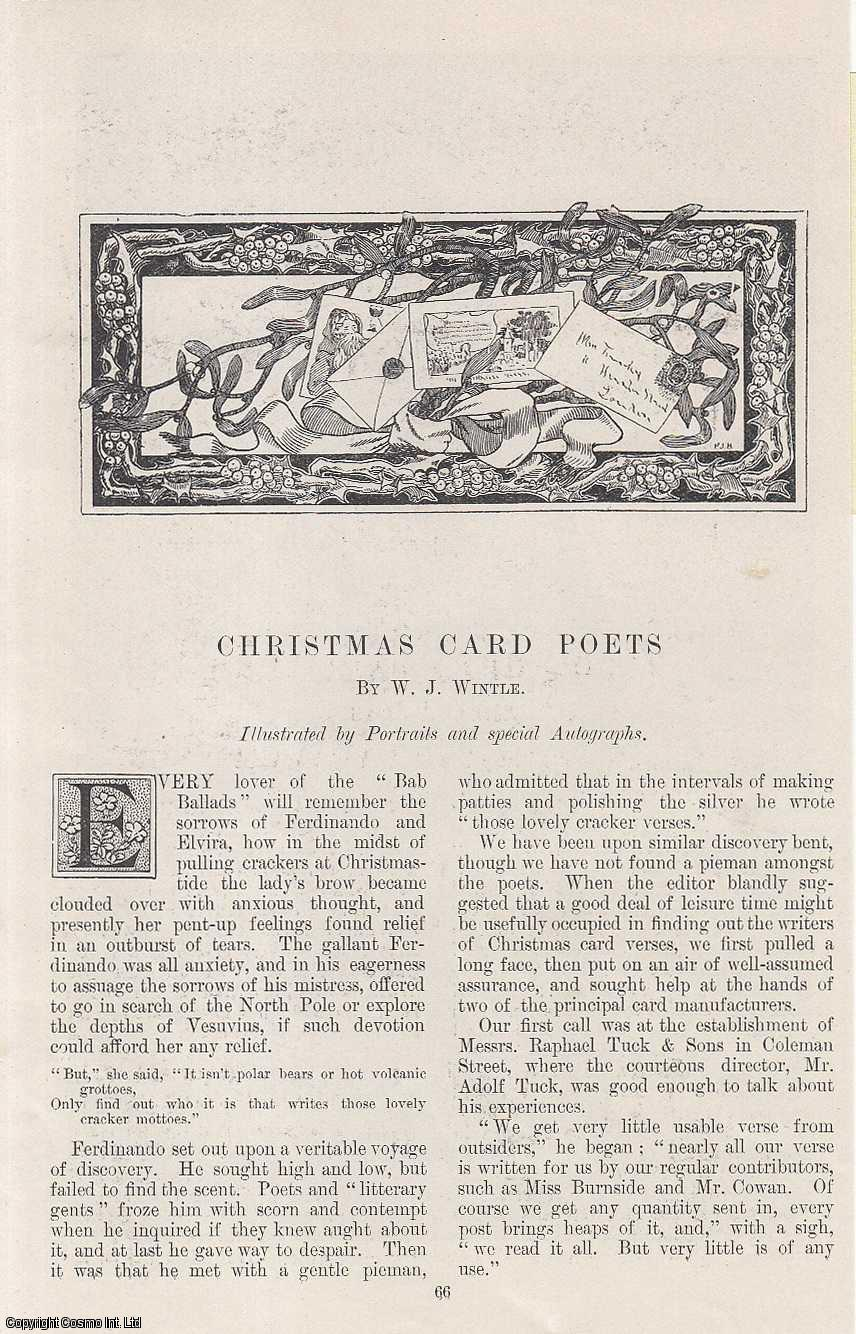 Christmas Card Poets. Illustrated by Portraits and Special Autographs., Wintle, W. J.