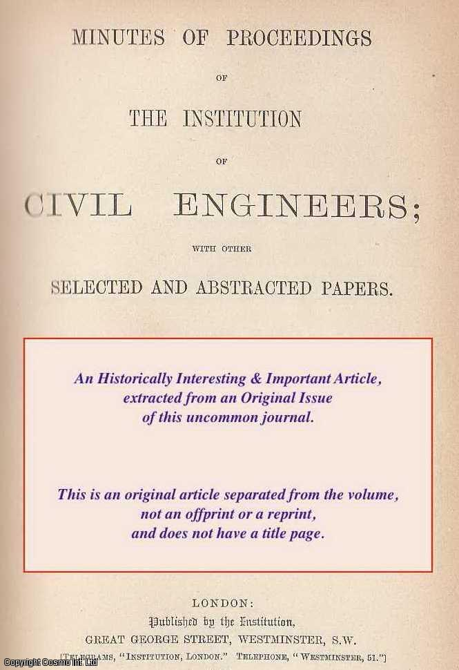 INGLIS, CHARLES EDWARD - The Crippling Load of a Compression-Member in a Framework with Stiff Joints. An original article from the Institution of Civil Engineers reports, 1939-40.