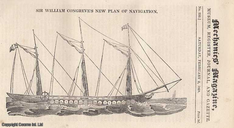 --- - Sir William Congreve's New Plan Of Navigation;On The Pile Engine; On The Construction Of Field Gates; Perpetual Motion; On Thistles; Pump Question, etc. Mechanics Magazine, Museum, Register, Journal and Gazette. Issue No. 232. A complete rare weekly issue of the Mechanics' Magazine, 1828.