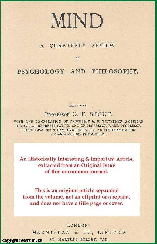 Dispositions and Phenomenalism. The inadequacy of analyses of statements such as those discussed in Professor Ryle's The Concept of the Mind., Spilsbury, R.J.