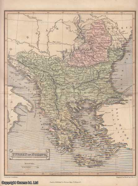 [STEEL ENGRAVED MAP]. Turkey in Europe., Assheton, J.