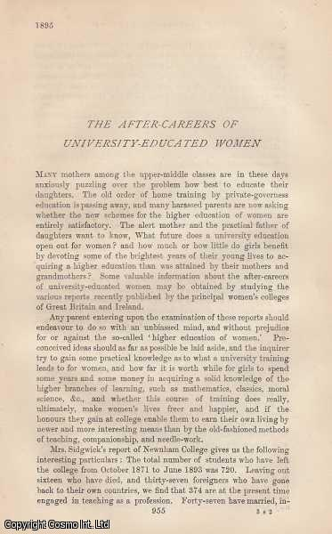 The After Careers of University Educated Women, Gordon, Alice M.