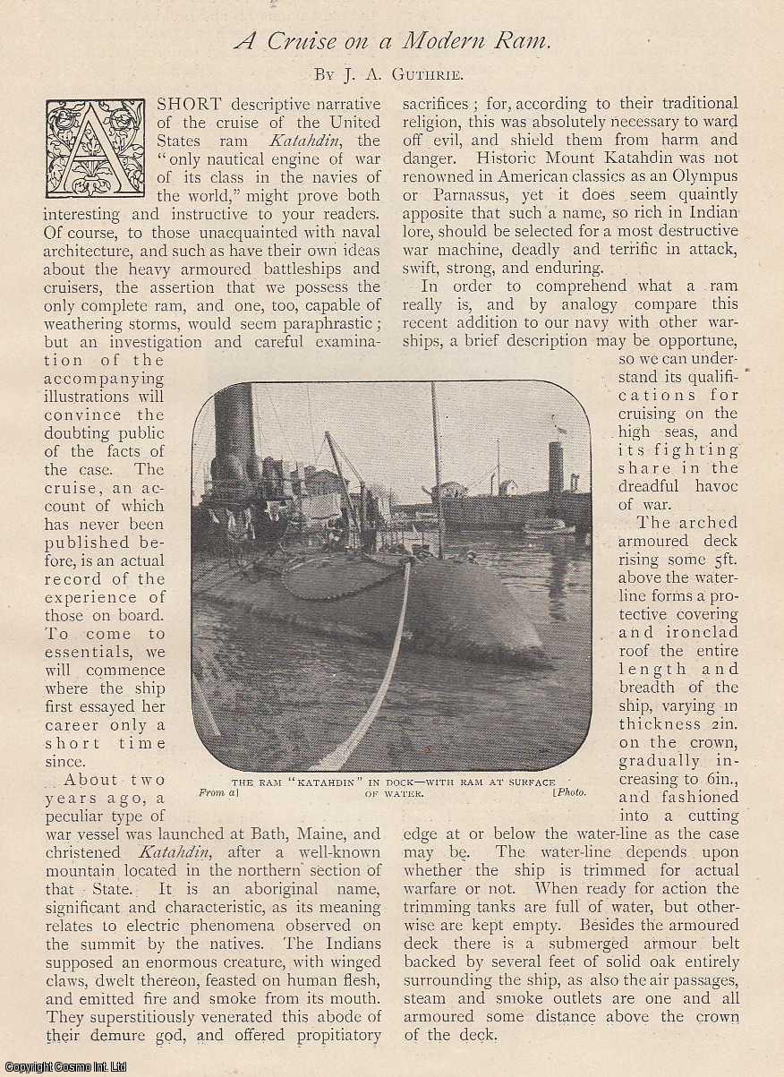 A Cruise on a Modern Ram. The Katahdin., Guthrie, J. A.