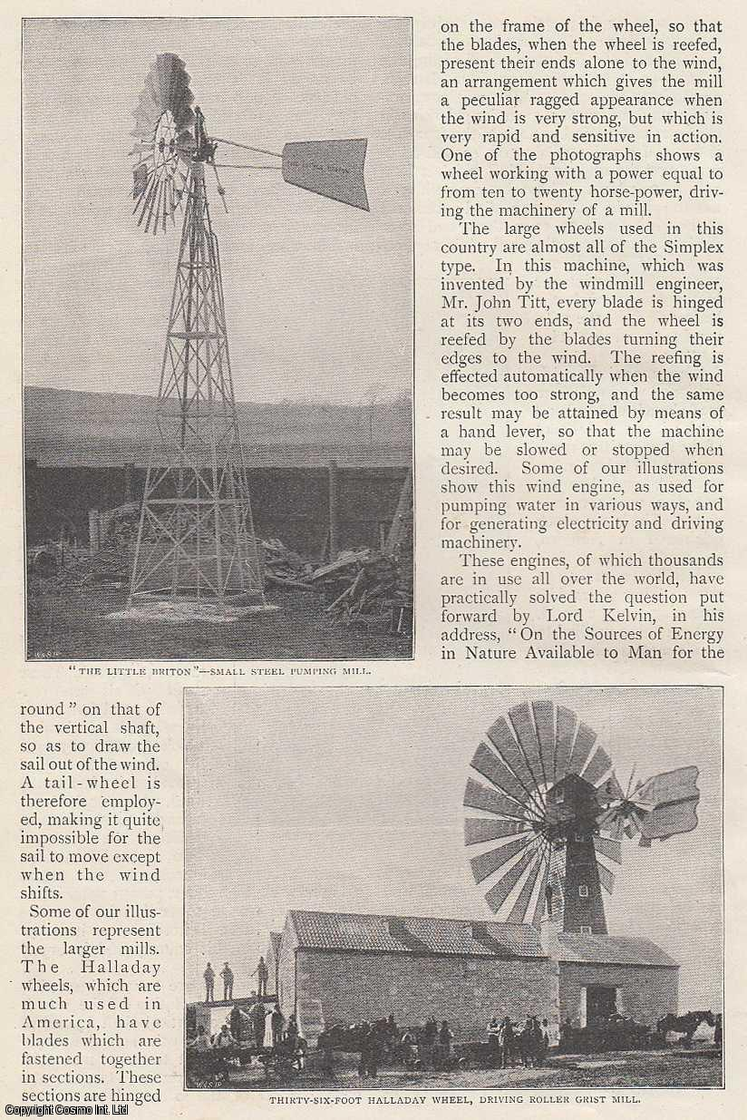 LAIDLAW, PHILIP - Windmills - Old and New. A rare original article from The Strand Magazine, 1898.