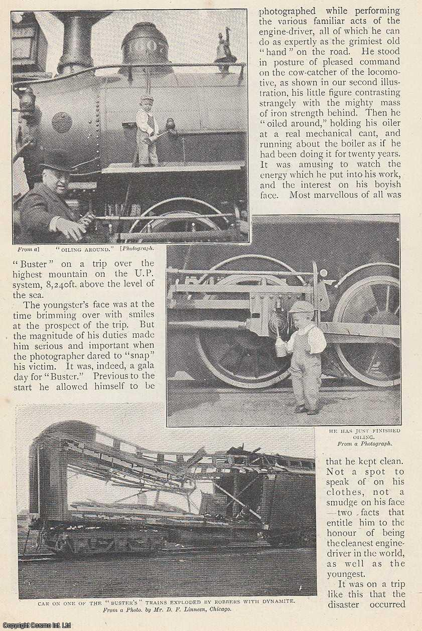 DOLLAR, GEORGE - Engine-Driver, The Youngest In The World. Laramie, Wyoming. An original article from The Strand Magazine, 1899.