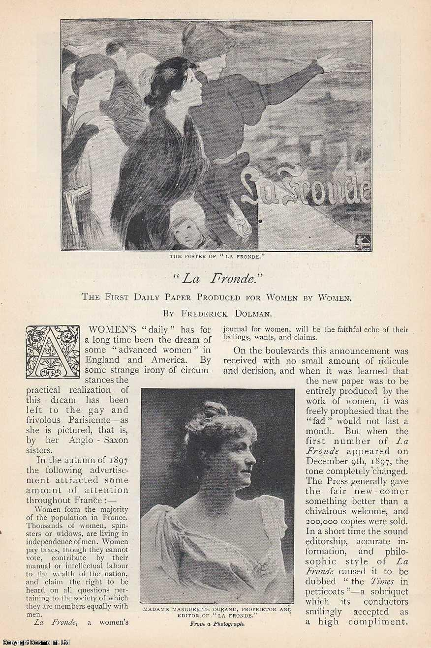La Fronde, The First Daily Paper Produced For Women By Women., Dolman, Frederick