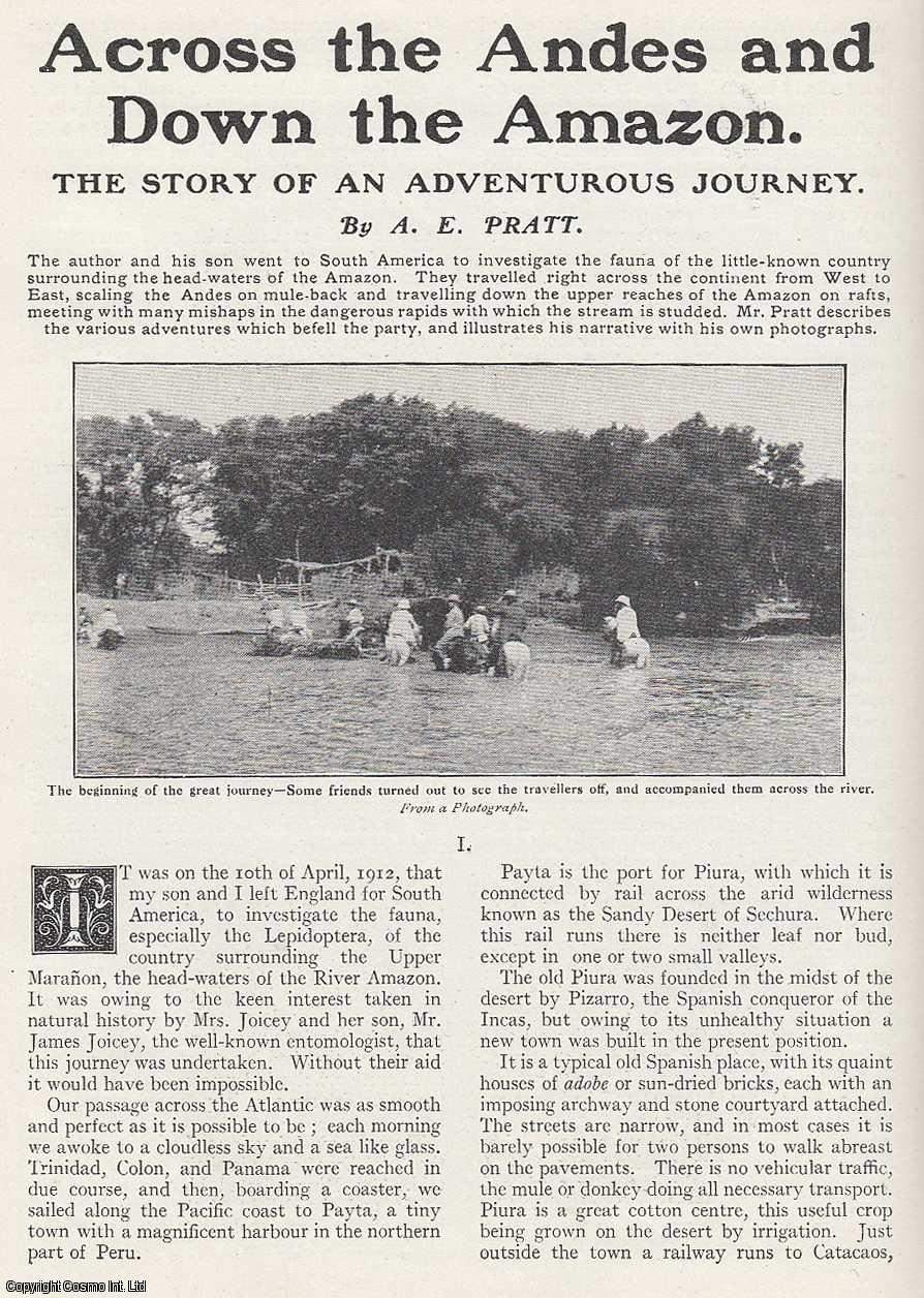 Across The Andes and Down The Amazon., Pratt, A. E.