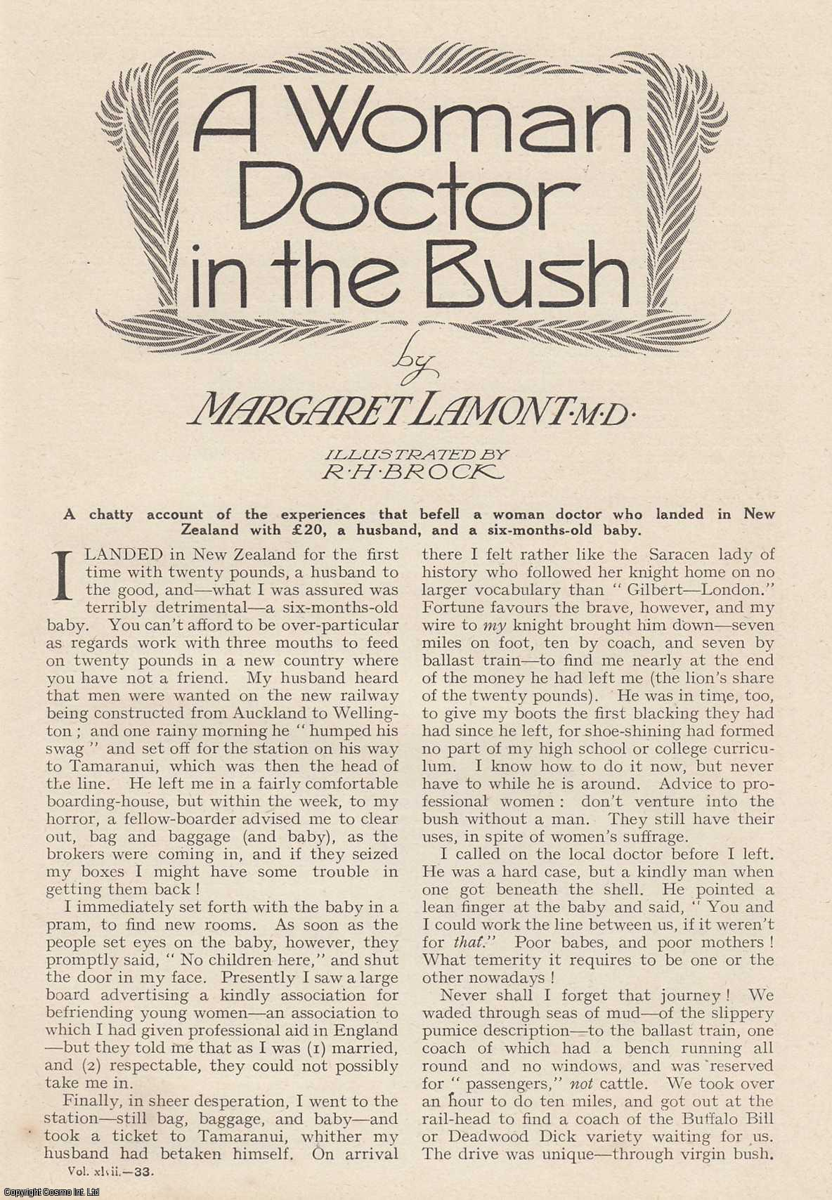 LAMONT, MARGARET - A Woman Doctor In The Bush. An original article from the Wide World Magazine, 1921.