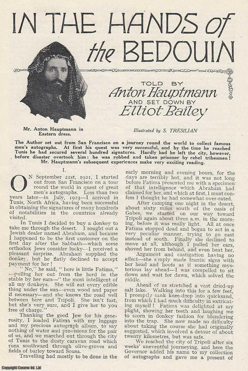 BAILEY, ELLIOT - In The Hands of The Bedouin. An original article from the Wide World Magazine, 1929.