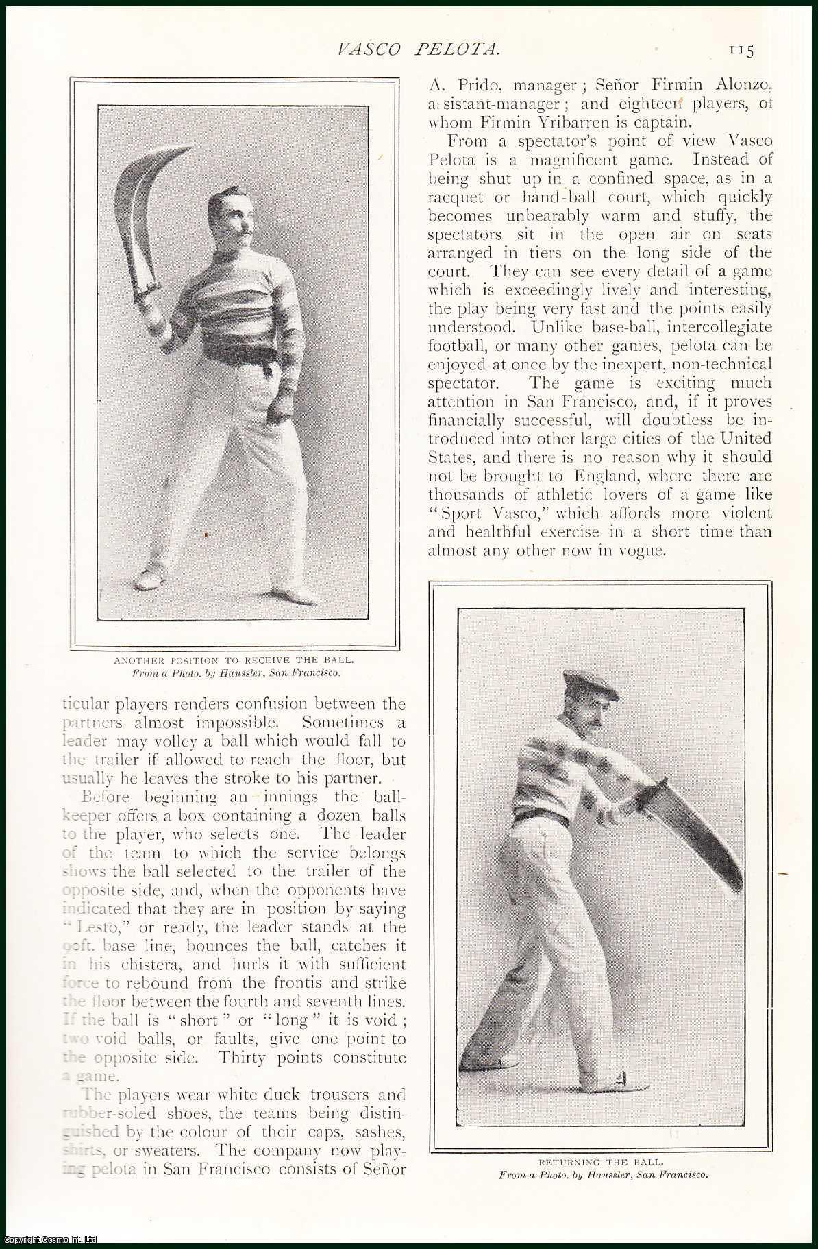 INKERSLEY, ARTHUR - Vasco Pelota or Basque Ball. An original article from The Strand Magazine, 1902.
