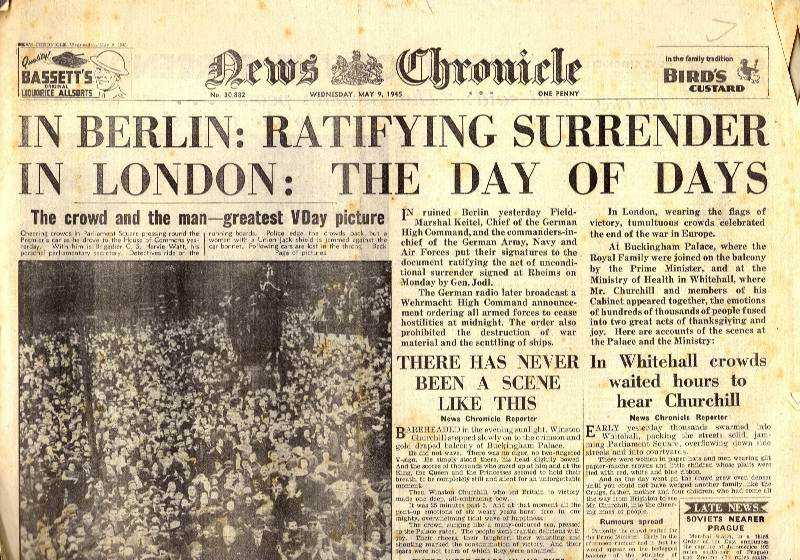 --- - In Berlin: Ratifying Surrender in London: The Day of Days. News Chronicle. Wednesday, May 9th, 1945.