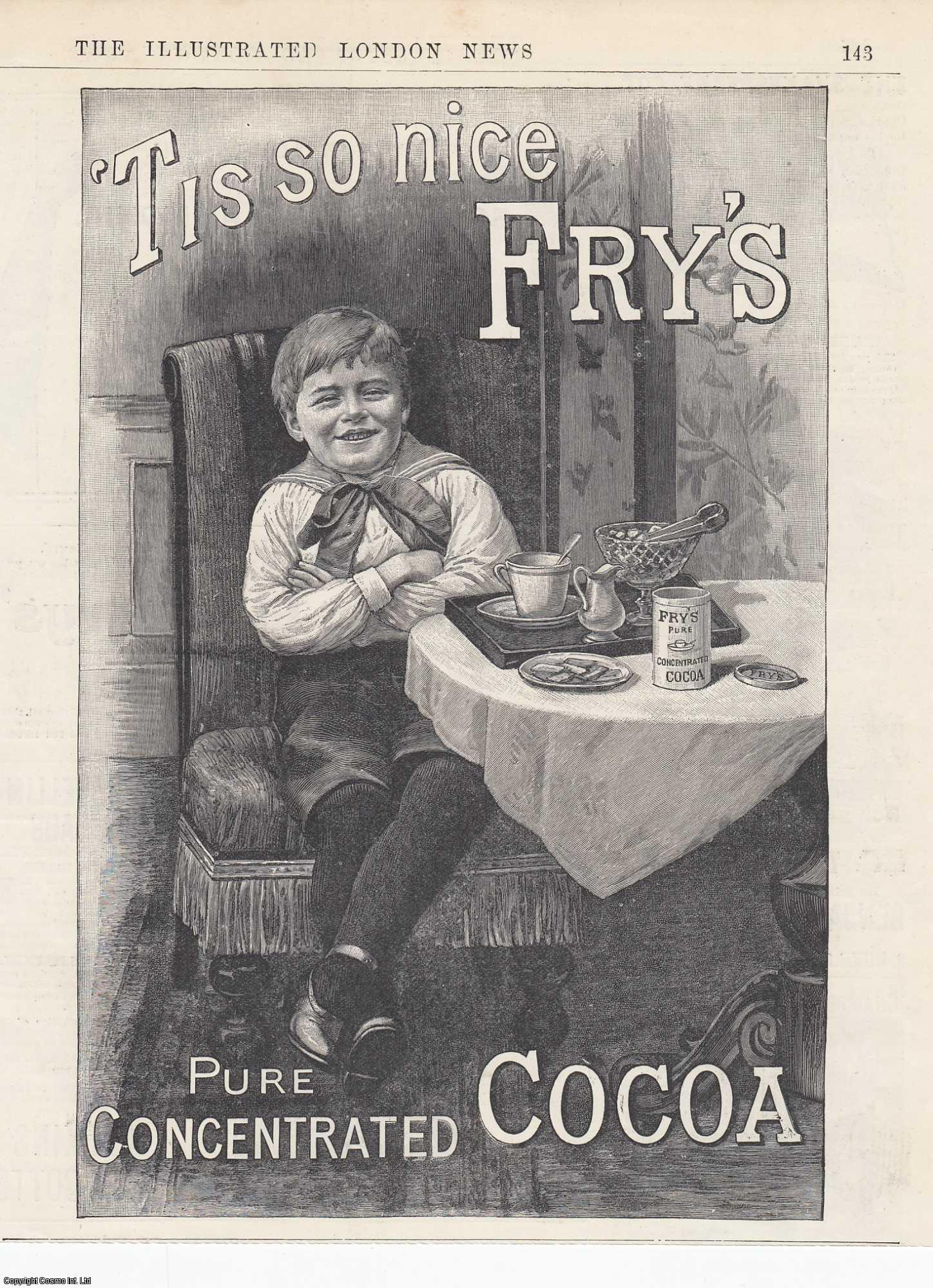 ENGRAVING - Advert. 'Tis so nice Fry's Pure Concentrated Cocoa. 1893. [2].