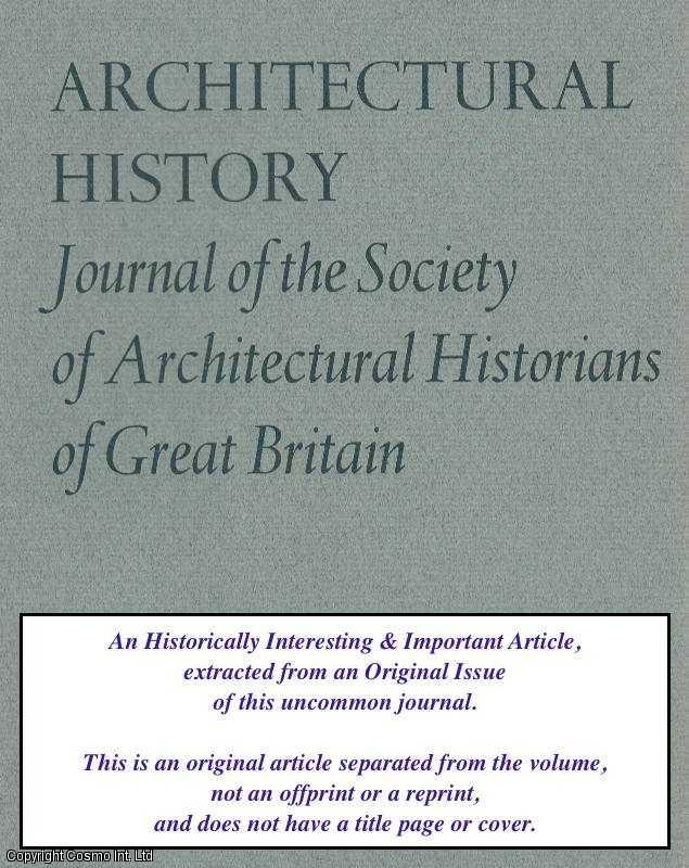 COLVIN, HOWARD - The Architects of Stafford House. An original article from the Architectural History Journal, 1958.