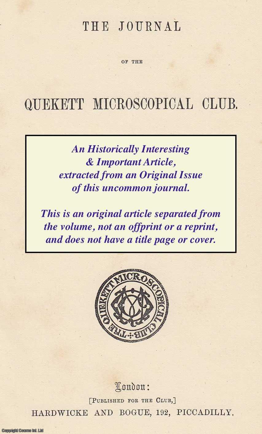 INGPEN, JOHN E. - Personal Equation, with Reference To Microscopy. A rare original article from the Journal of the Quekett Microscopical Club, 1874.