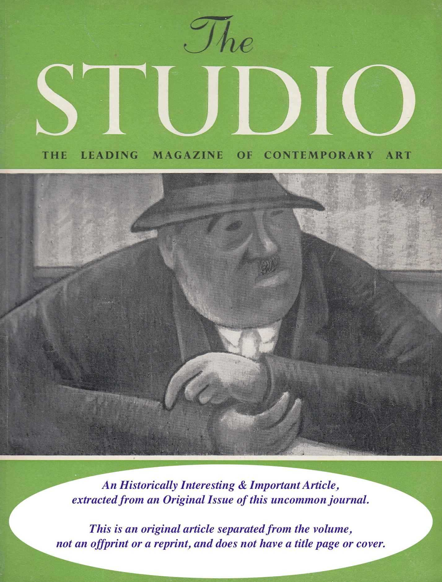 WILKINSON, NORMAN - The Royal Insttitute of Painters in Water Colours. An original article from the The Studio magazine, 1944.