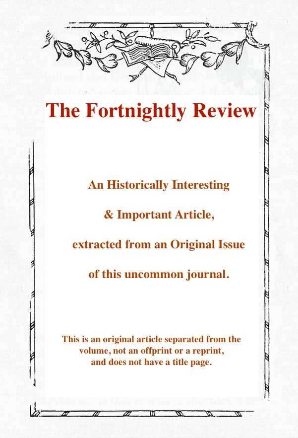 --- - Bonapartism. A rare original article from the Fortnightly Review, 1899.
