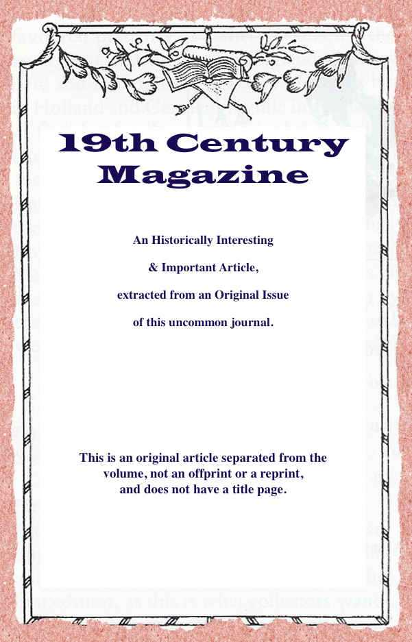 LAMBERT, AGNES - Neglecting our Customers: A Postscript. A rare original article from the Nineteenth Century Magazine, 1899.