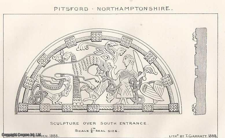 ALLEN, J. ROMILLY - Sculpture of The Norman and Transitional Periods in Northamptonshire. An article from the Meetings of The Architectural Societies, 1889. An original article from the Meetings of The Architectural Societies 1889.