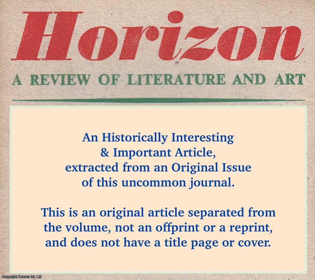 SARTRE, JEAN-PAUL - The Case for Responsible Literature. An original article from Horizon a Review of Literature & Art 1945.