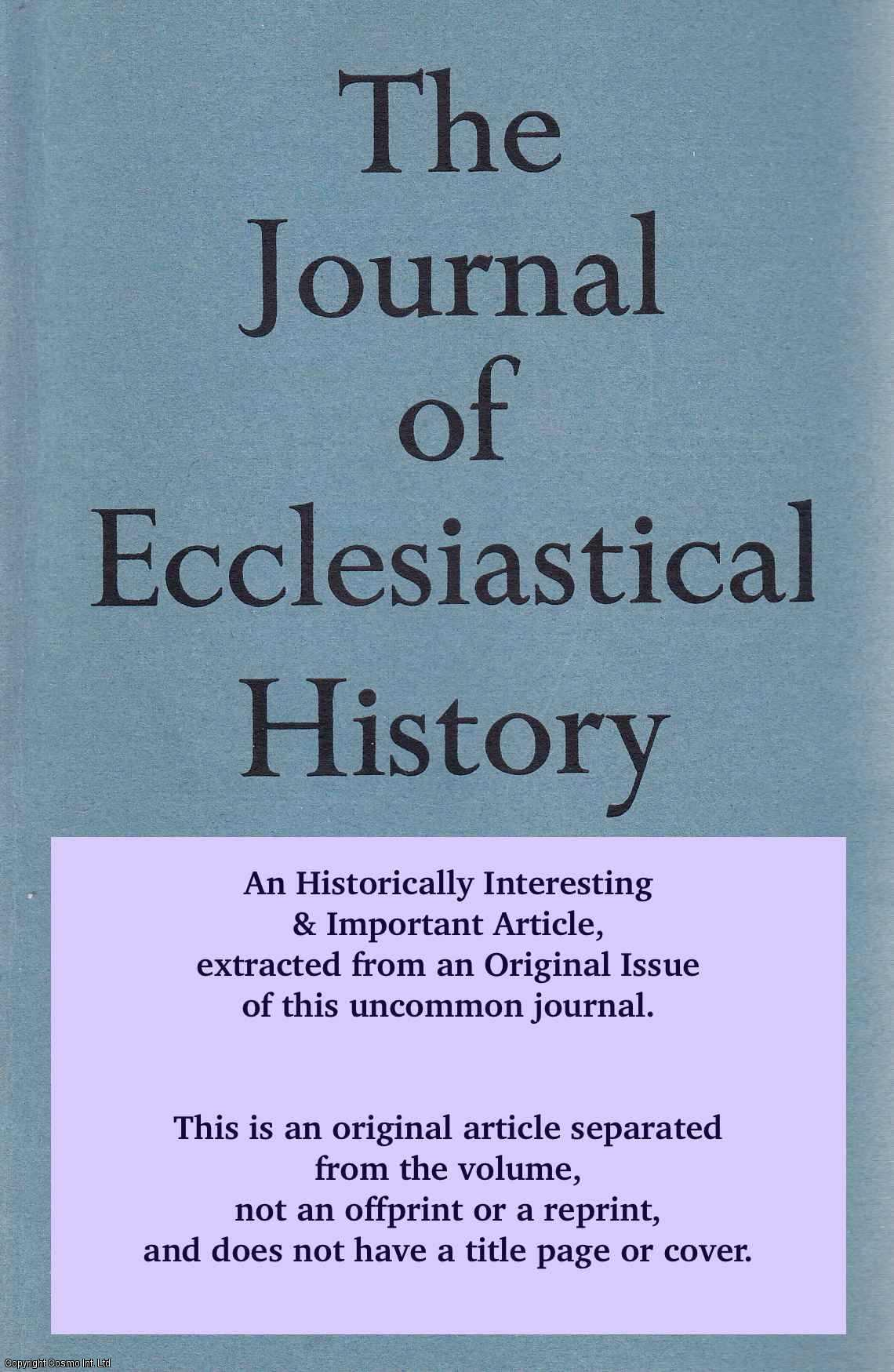 RATCLIFF, E.C. - The Liturgical Work of Archbishop Cranmer. An original article from the The Journal of Ecclesiastical History 1956.