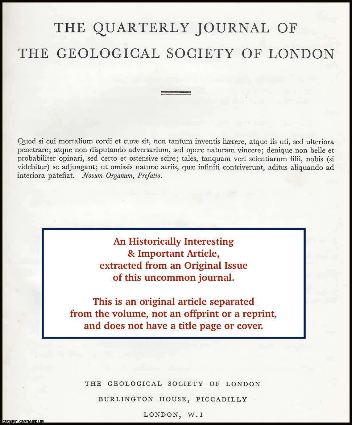 MITCHELL, GEORGE FRANCIS - The Quaternary Deposits of The Ballaugh and Kirkmichael Districts, Isle of Man. An original article from the Geological Society of London 1965.