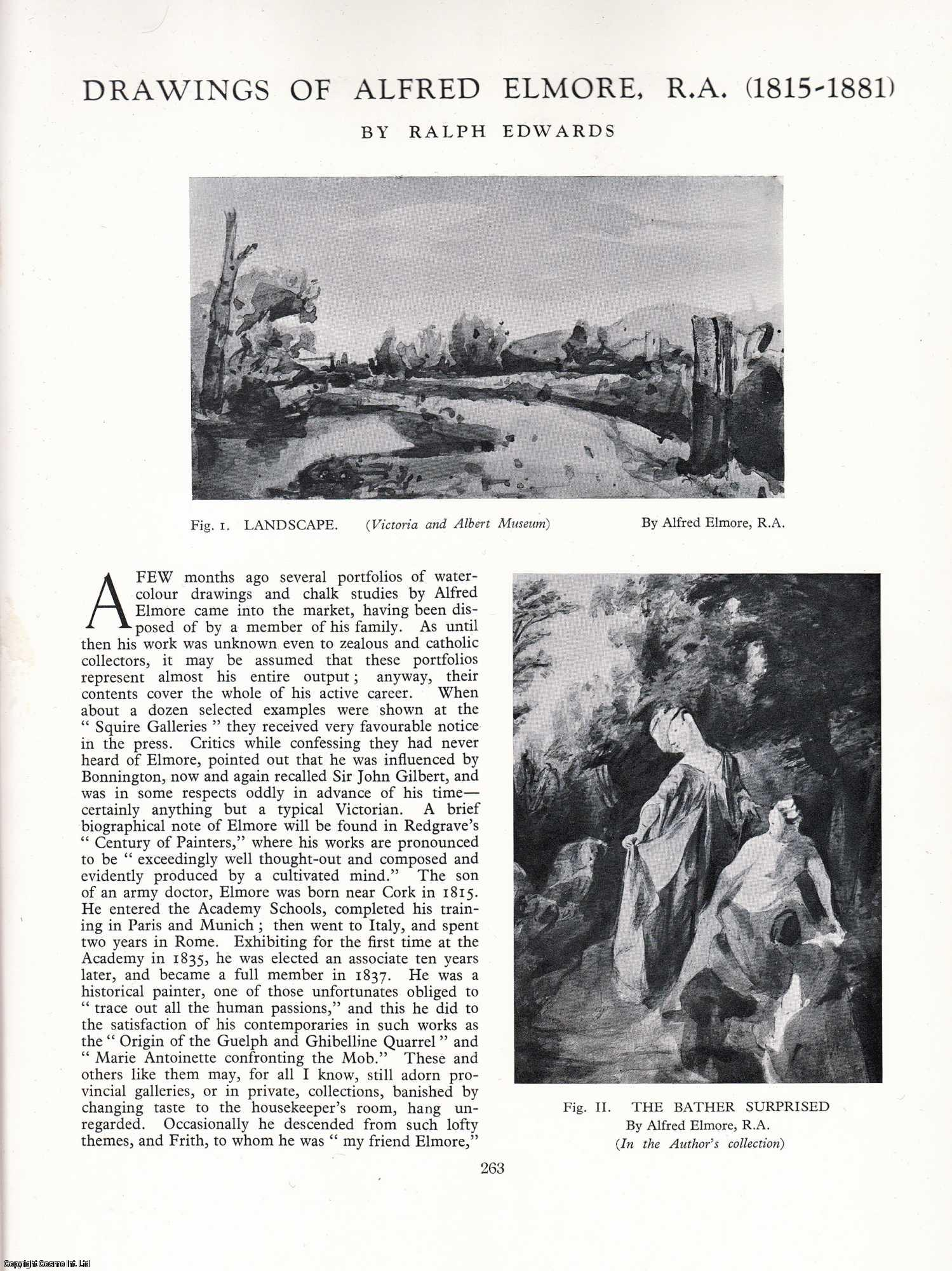 EDWARDS, RALPH - Drawings of Alfred Elmore, R.A. (1815-1881). An original article from the Apollo, the Magazine of the Arts. 1934.
