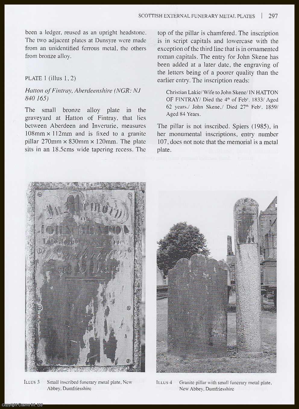 THOMSON, GEORGE - Scottish External Funerary Metal Plates.