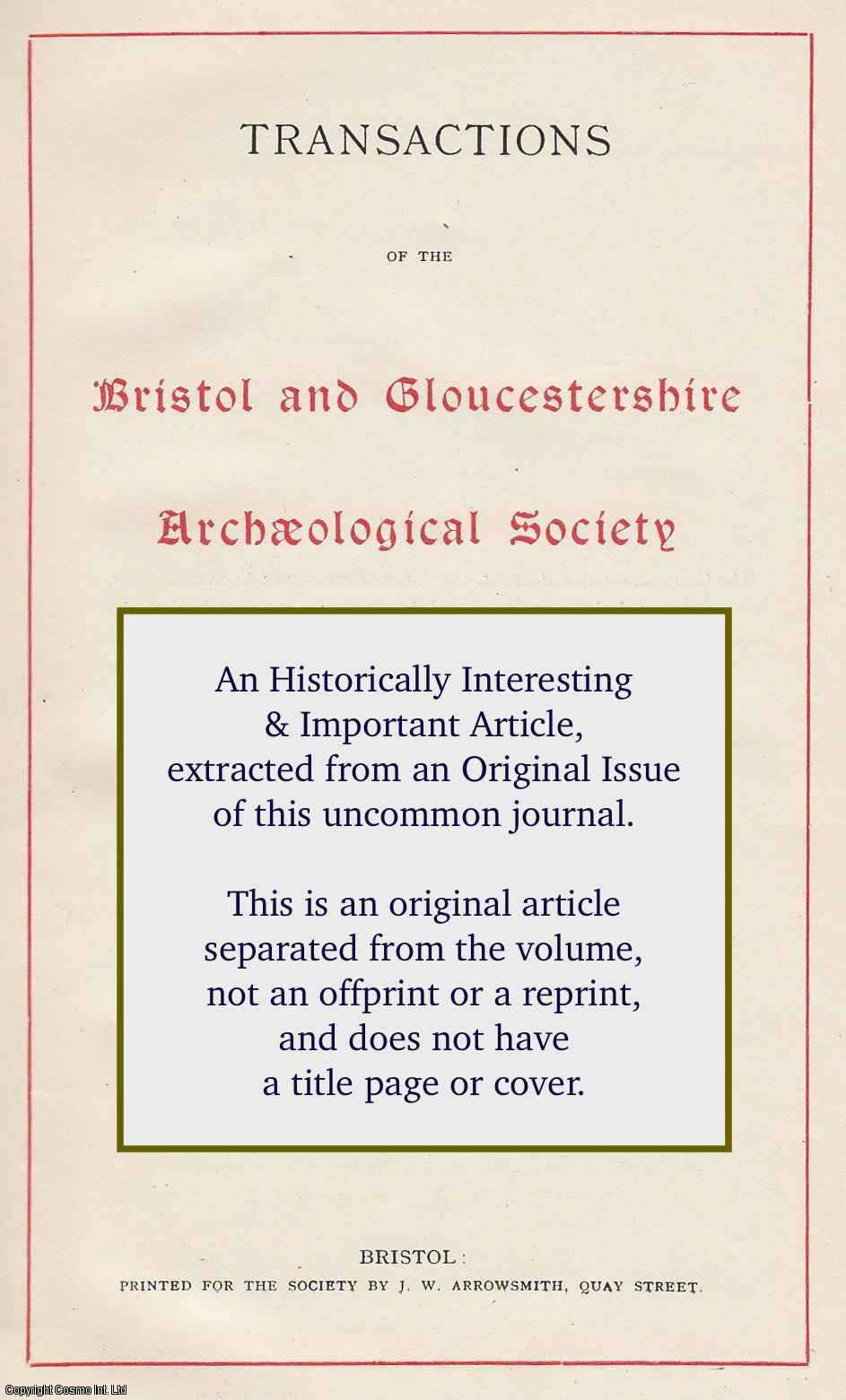 WILKINSON, DAVID - Two Anglo-Saxon Graves at Kemble. An original article from the Bristol and Gloucestershire Archaeological Society 1988.