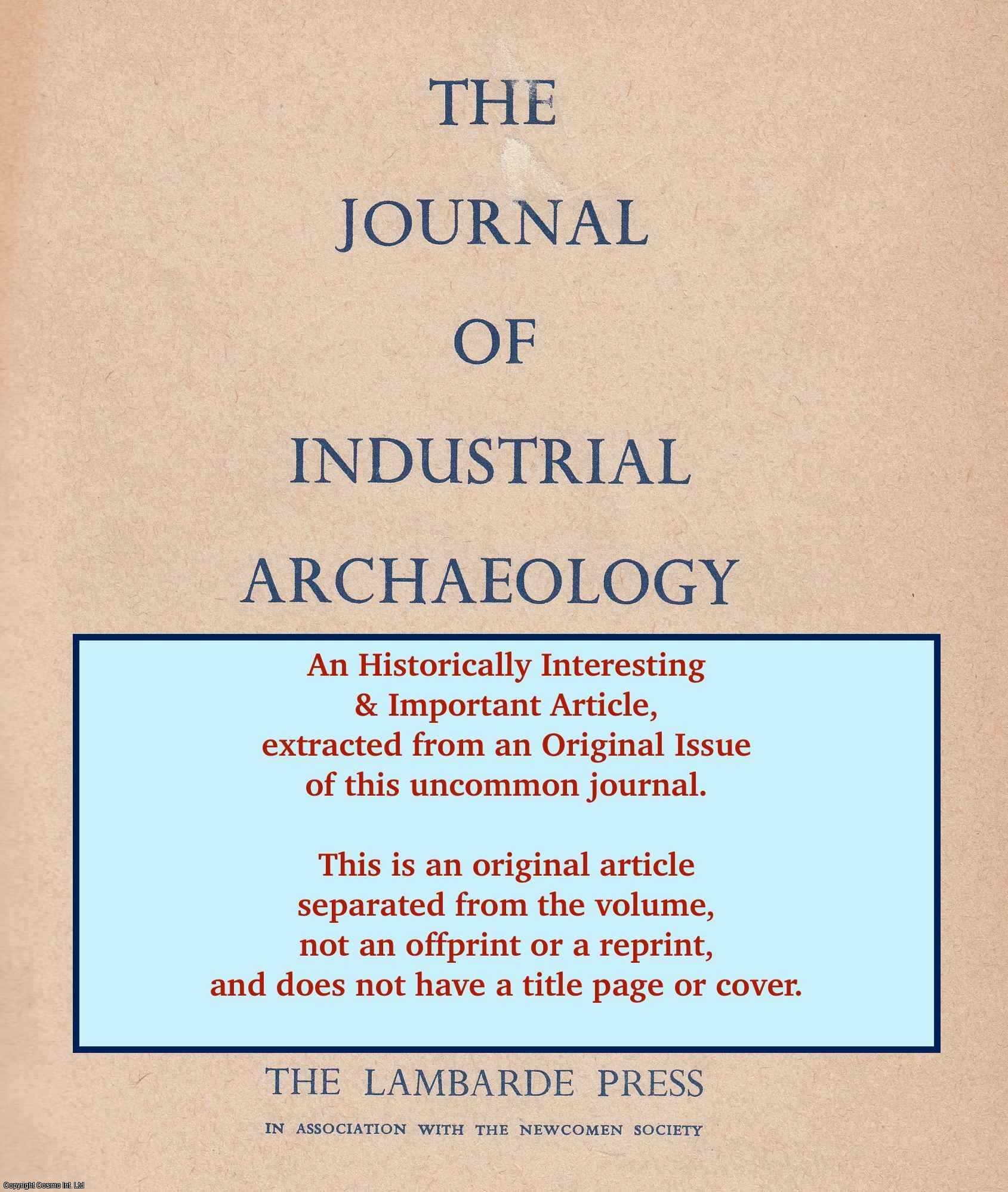 TANN, JENNIFER - A Survey of Thirsk, Yorkshire. An original article from The Journal of Industrial Archaeology, 1967.