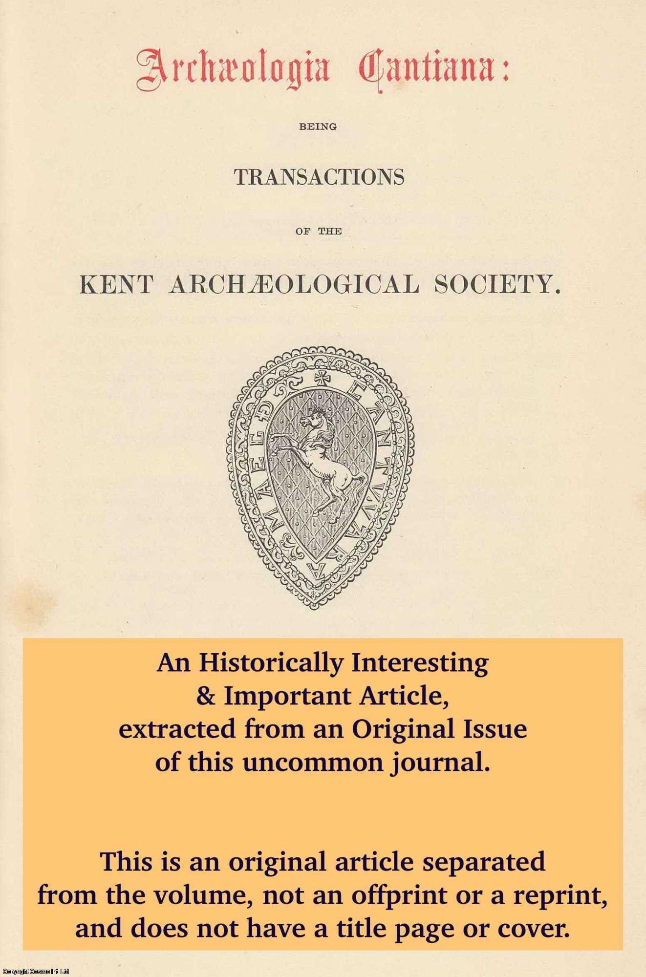 BRIDGE, JOHN W. - Thomas Vicary. A Famous Maidstone Surgeon. An original article from The Archaeologia Cantiana: Being Transactions of The Kent Archaeological Society, 1949.