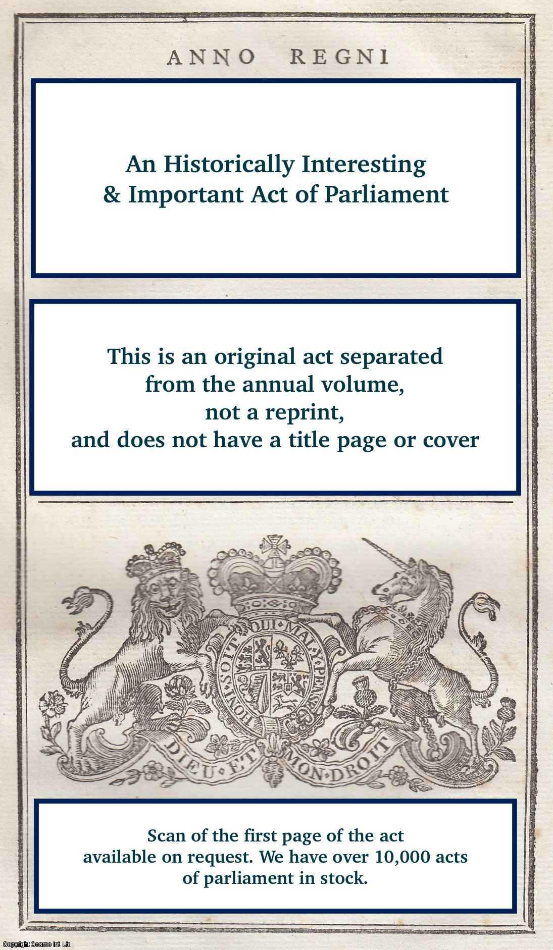 KING GEORGE IV - Quartering of Soldiers Act 1825 (c.20. 6 Geo. 4).