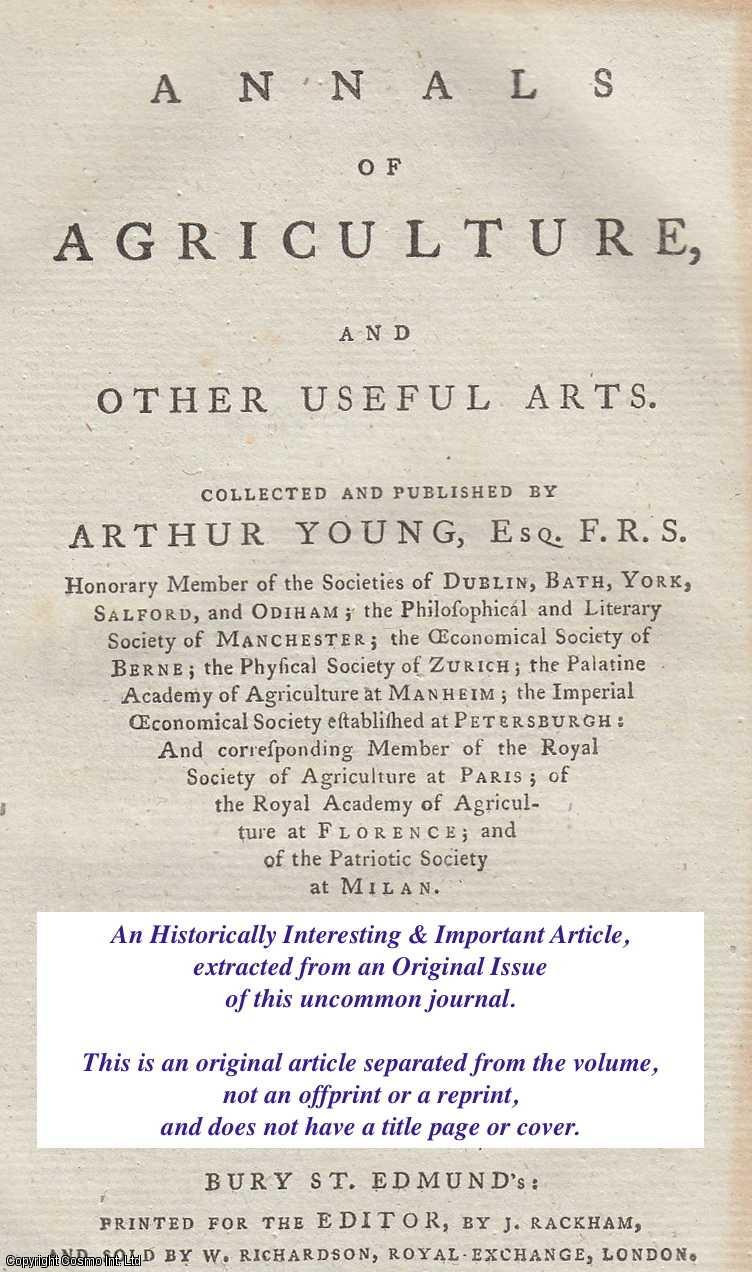 HARRIES, EDWARD - Agricultural Observations and on Vineries. An original article from the Annals of Agriculture 1793.