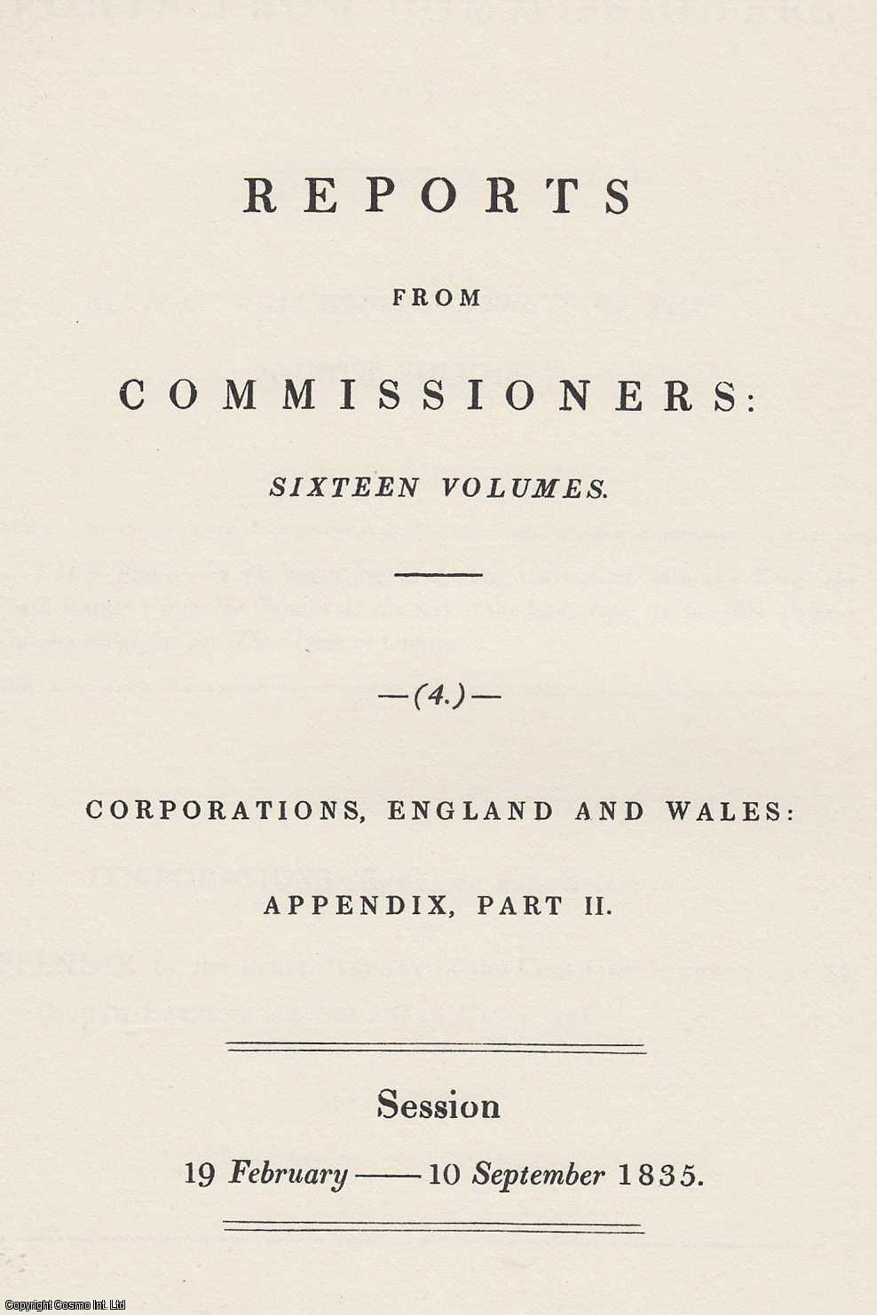 --- - 1835. Report on the Town of Basingstoke, Hampshire. Extracted from Reports from the Commissioners on Municipal Corporations in England and Wales. Reprinted by the Irish University Press.