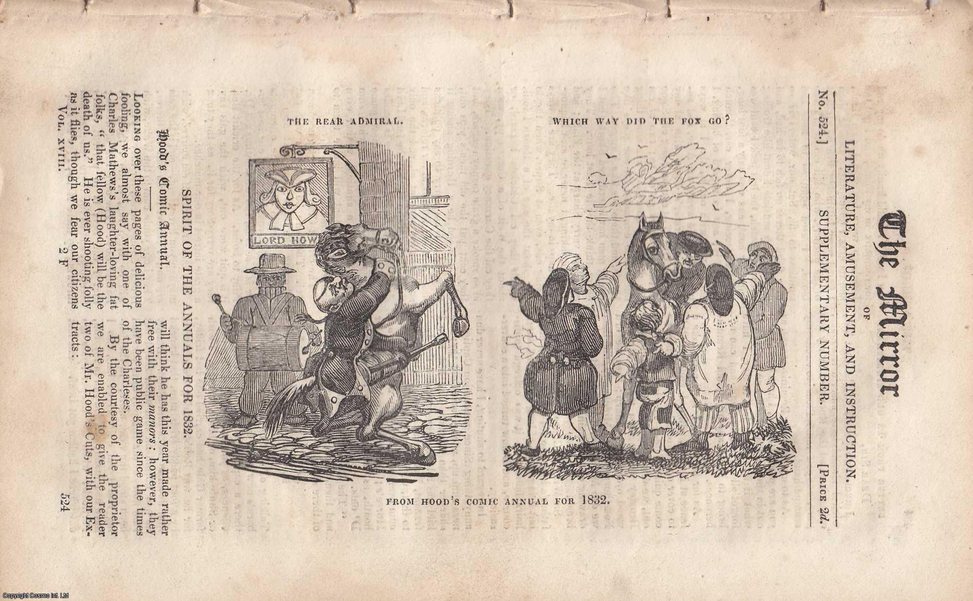 THE MIRROR - Spirit of the Annuals for 1832. A complete rare weekly issue of the Mirror of Literature, Amusement, and Instruction, 1831.