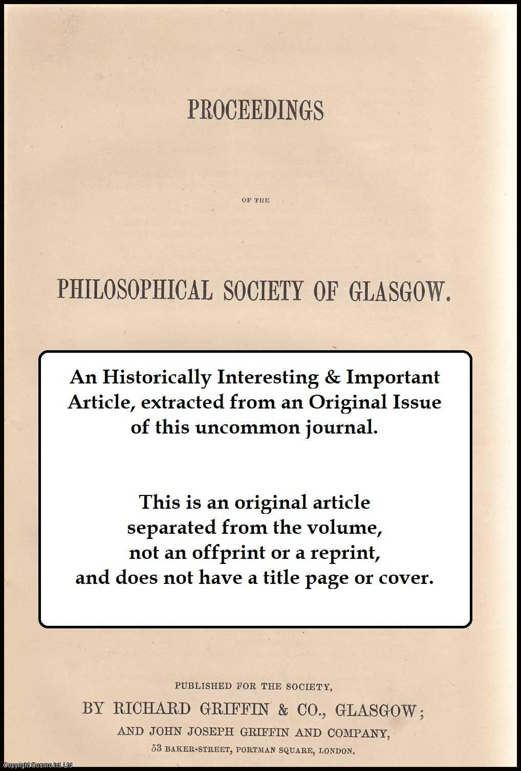 EDMUND J. MILLS & JOHN IMRIE - On the Relation of the Ash Tree to the Height of Plants. This is an original article from the Proceedings of the Glasgow Philosophical Society, 1900.