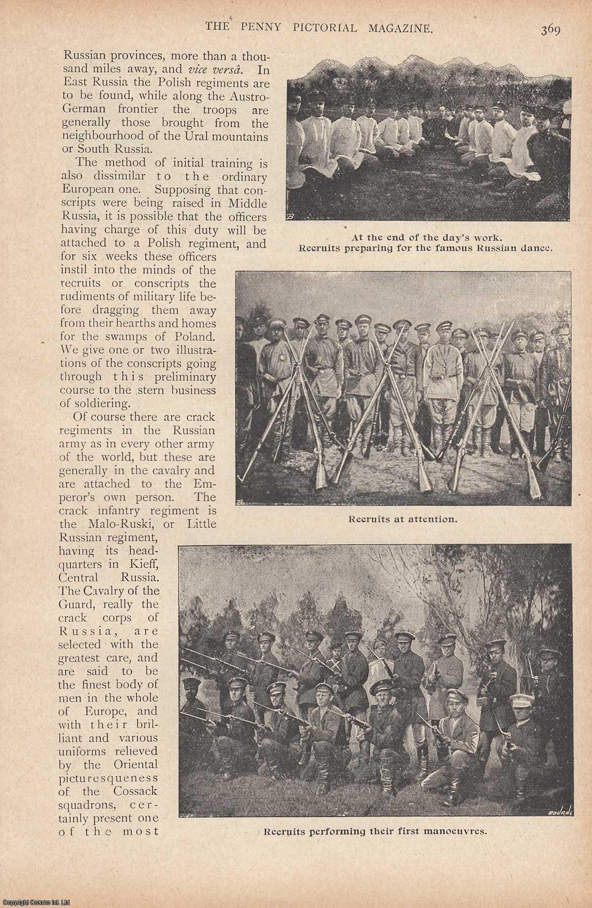 JEFFERSON, R.L. - Russia's gigantic army. Illustrated by photographs of various types of troops. This is an original article from the Penny Pictorial Magazine, 1899.