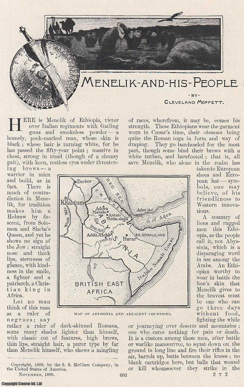 MOFFETT, CLEVELAND - Menelik of Ethiopia and his People. An original article from the Windsor Magazine, 1899.
