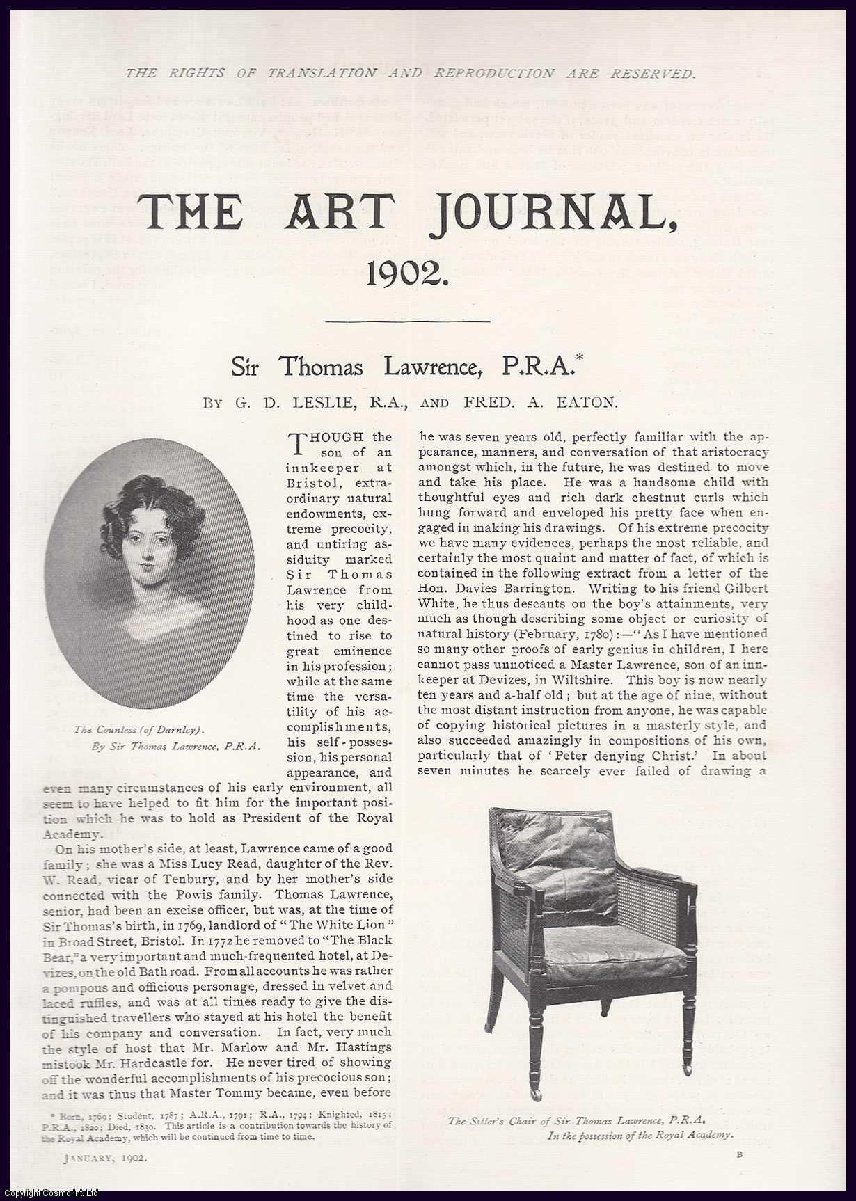 G.D. LESLIE & FRED A. EATON - Sir Thomas Lawrence (Painter). An original article from the The Art journal, 1902.