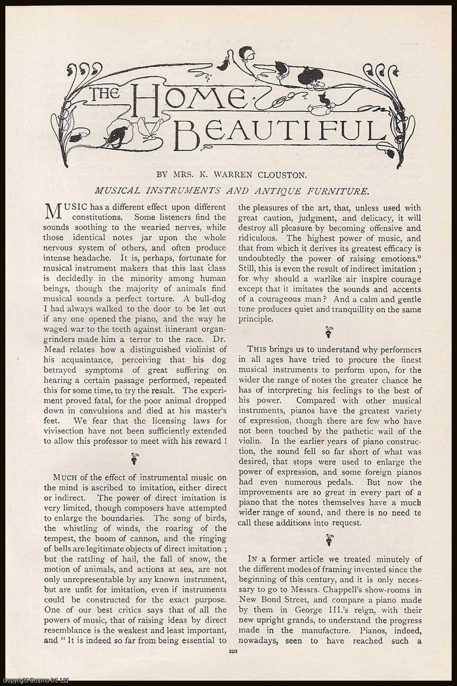 CLOUSTON, MRS. K. WARREN - Messrs. Chappell's Show-Rooms: Musical Instruments (Piano) and Antique Furniture: The Home Beautiful. An original article from the Lady's Realm 1898-99.