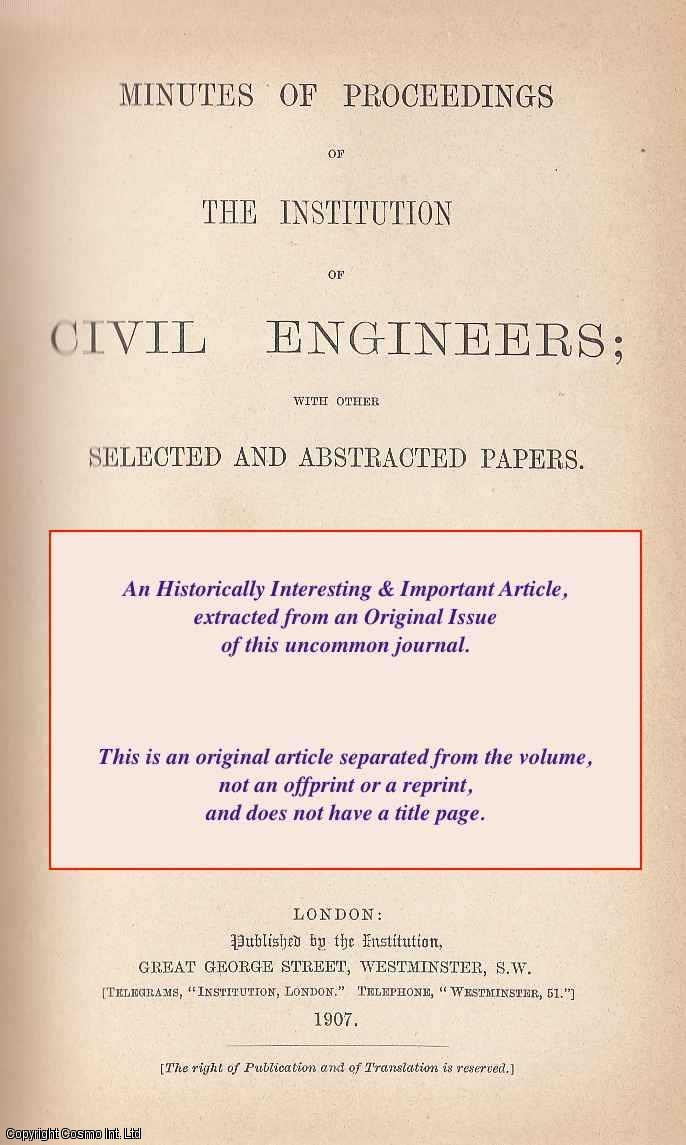 CLIFFORD, E. H. - The Efficiency of Small Electro Motors. A rare original article from the Institution of Civil Engineers reports, 1888.