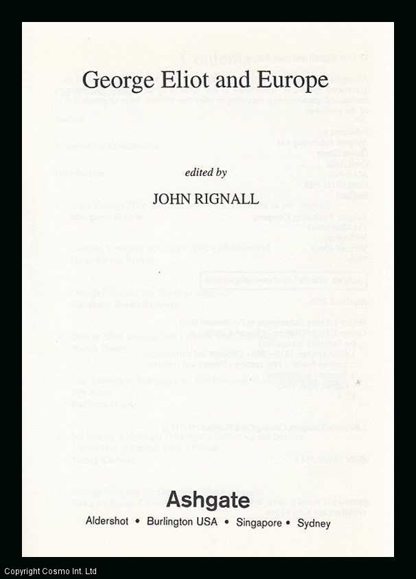 George Eliot and Europe (Warwick Studies in the European Humanities) [Hardcov., ---.