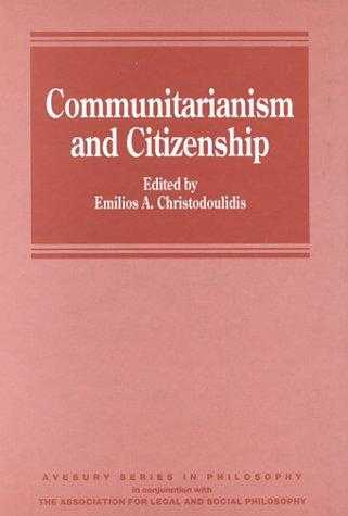 CHRISTODOULIDIS, EMILI. - Communitarianism and Citizenship (ALSP)