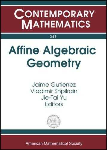 Affine Algebraic Geometry (Contemporary Mathematics), Shpilrain, Vladimir (Editor)