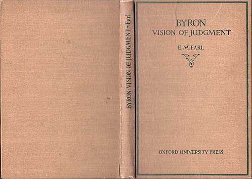Byron's Vision of Judgement, Earl E M [ Edited By]