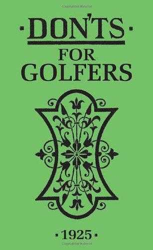 Don'ts for Golfers, Green, Sandy