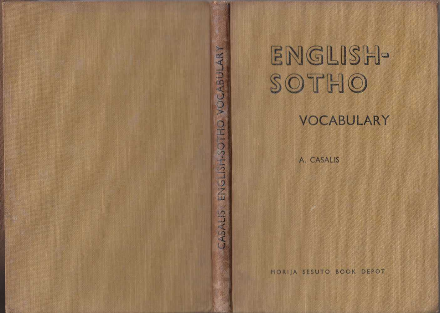 English-Sotho Vocabulary, Casalis A