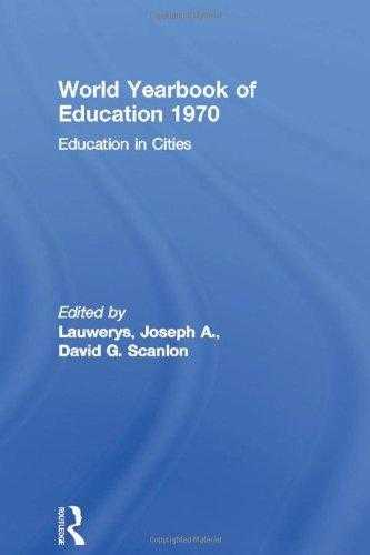 Education in Cities, Scanlon, David G. (Editor)